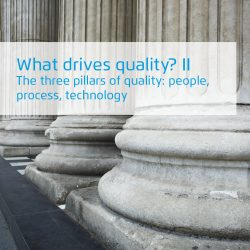 Three pillars of quality: people, process, technology